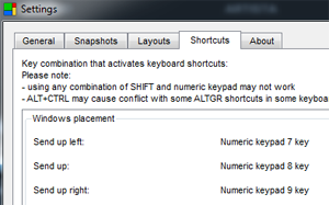 Keyboard shortcuts.
